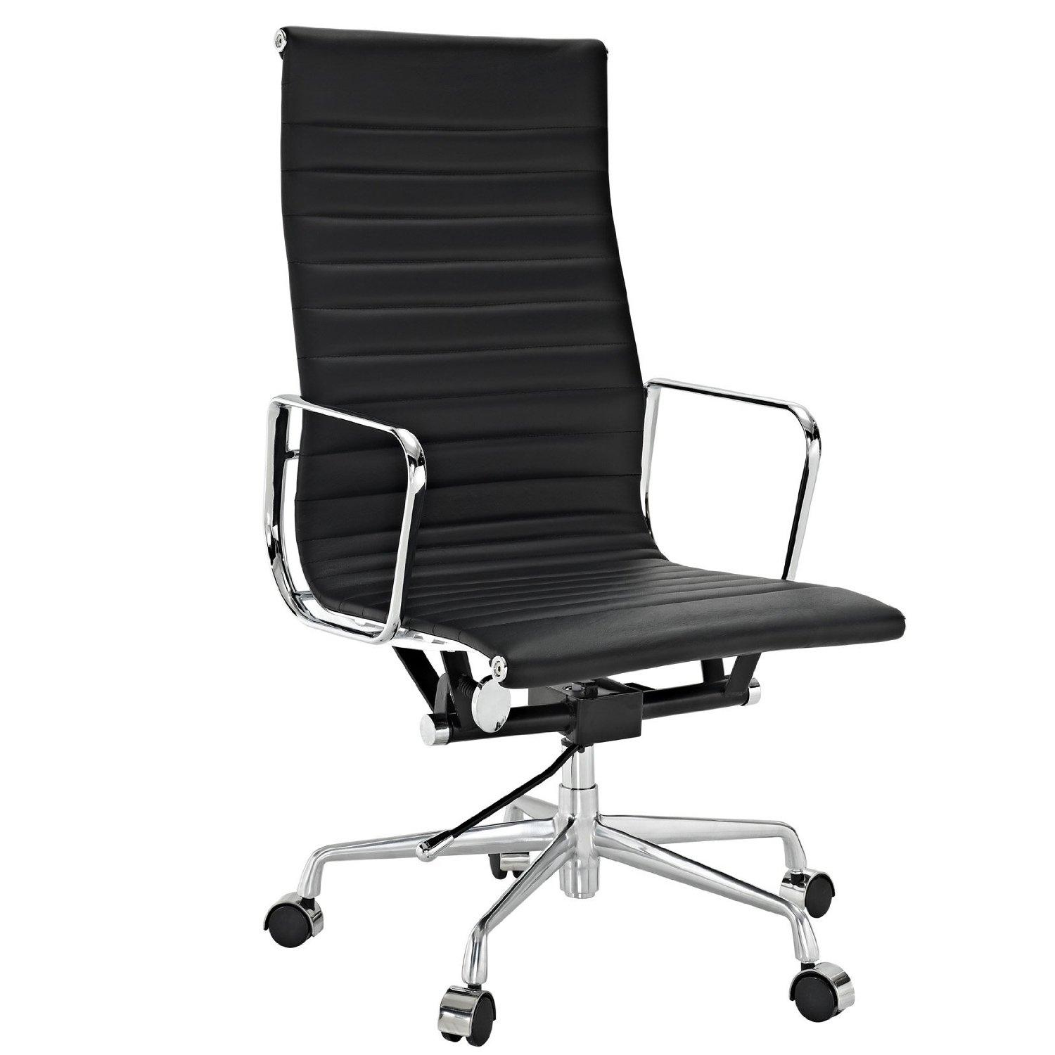 High Back Office Chairs Amazon Lexmod Ribbed High Back Office Chair In White
