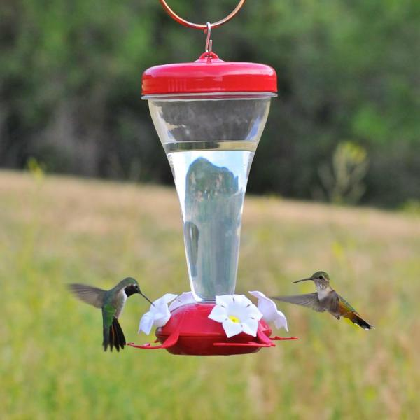 Perky-pet 124tf Top-fill 24-ounce Plastic Hummingbird Feeder Wild Bird Feeders