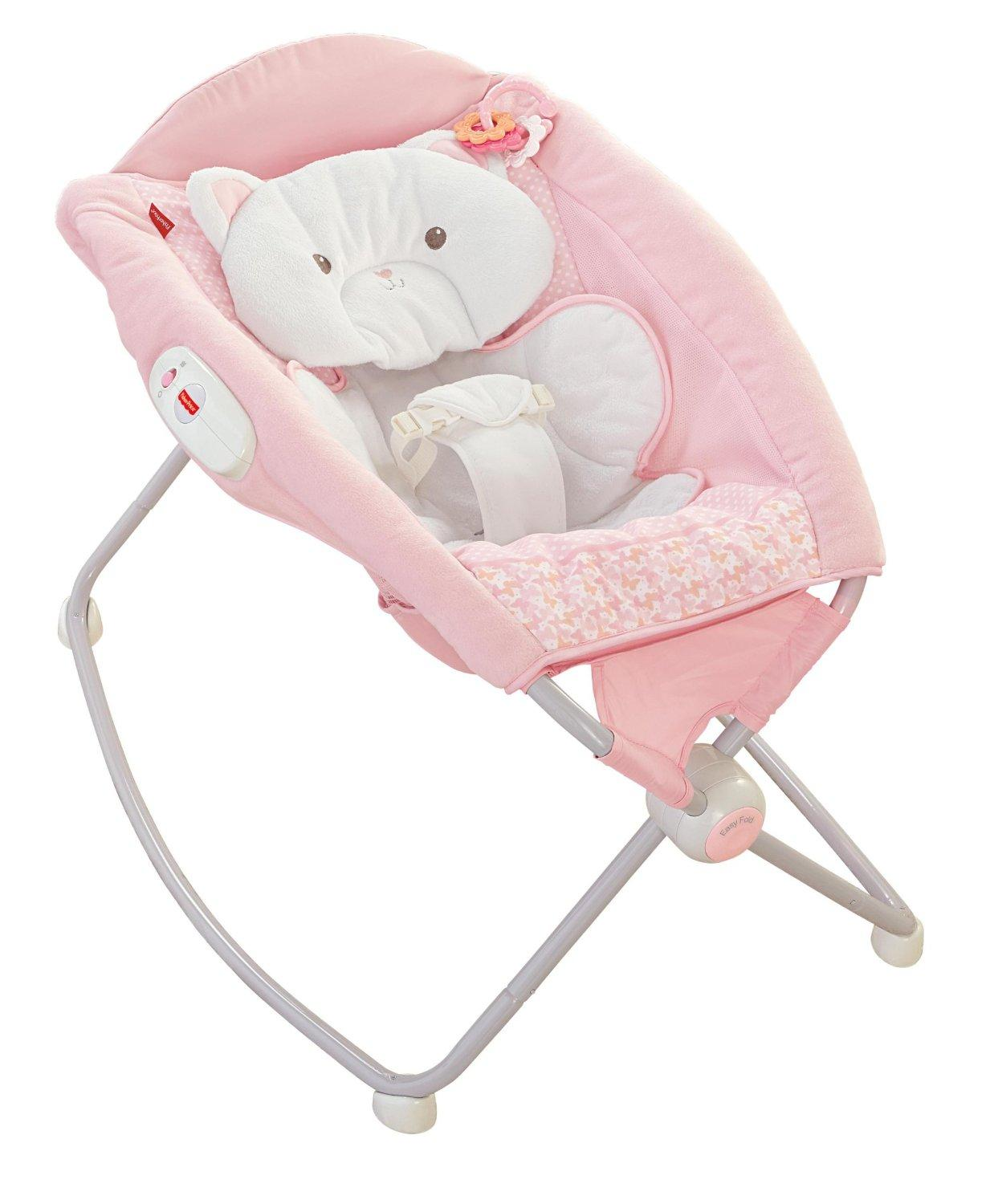 baby sleeper chair how to slipcover a amazon fisher price my little snugakitty deluxe rock
