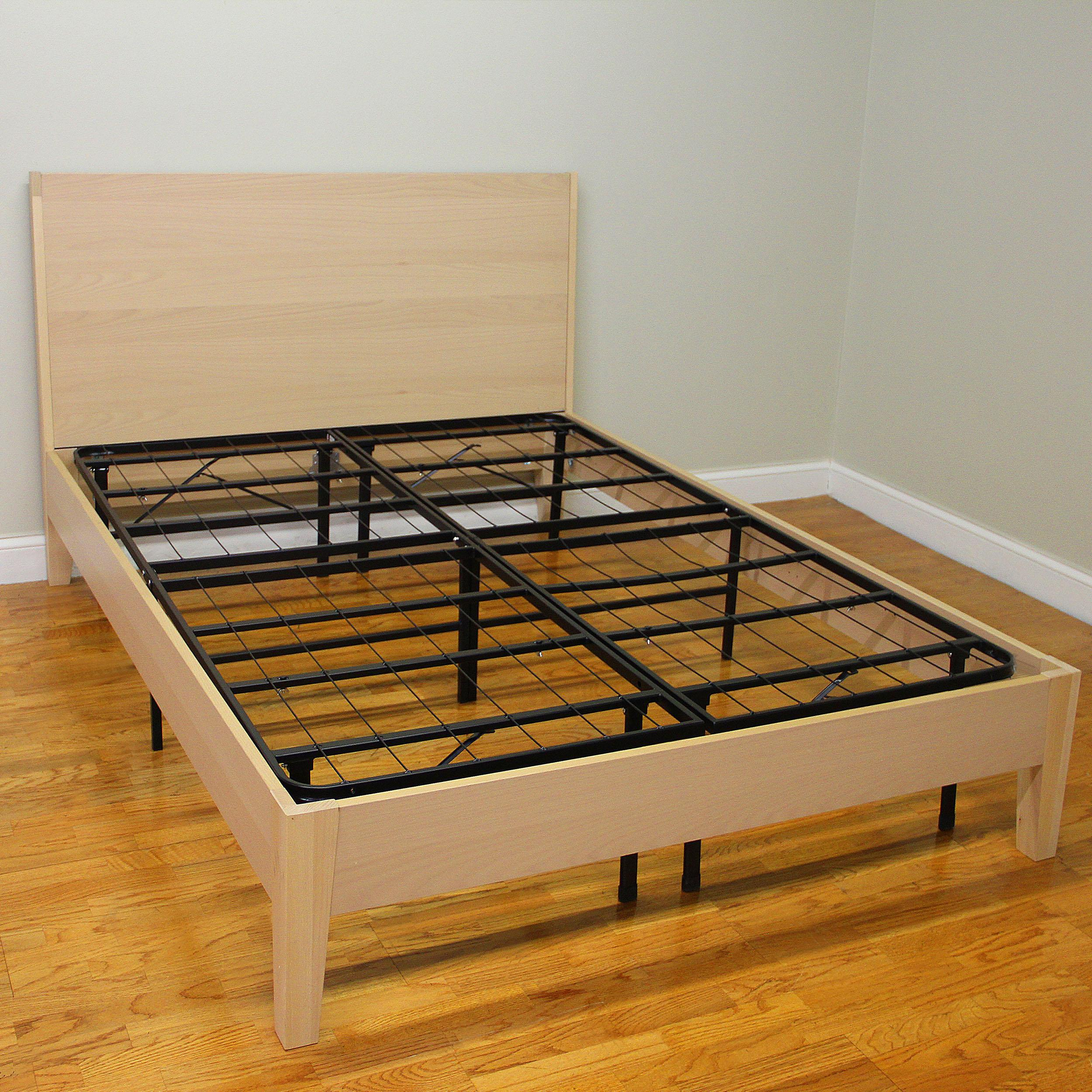 Hercules Platform Heavy Duty Metal Bed FrameMattress