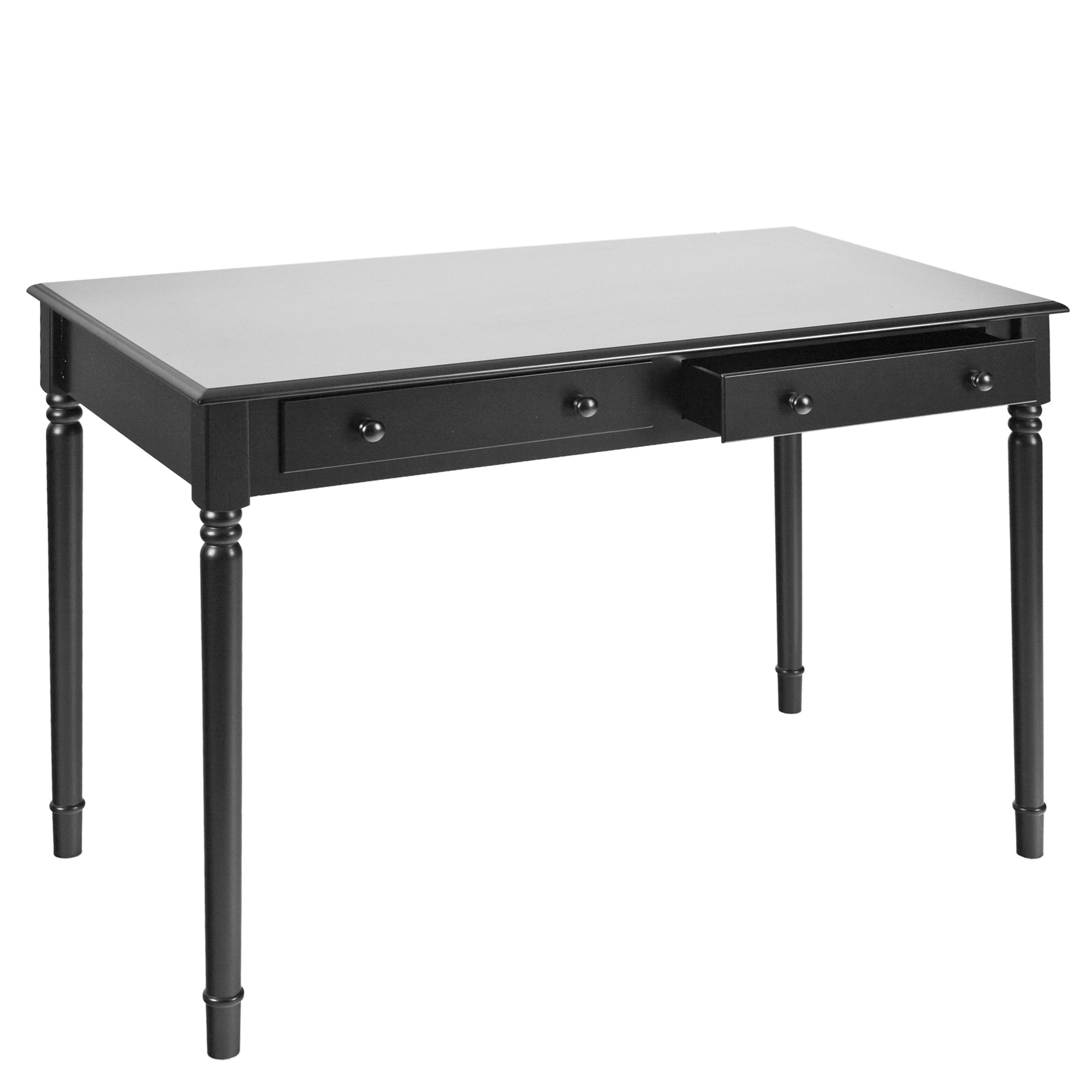 Amazoncom  SEI Satin Black 2Drawer Writing Desk  Home