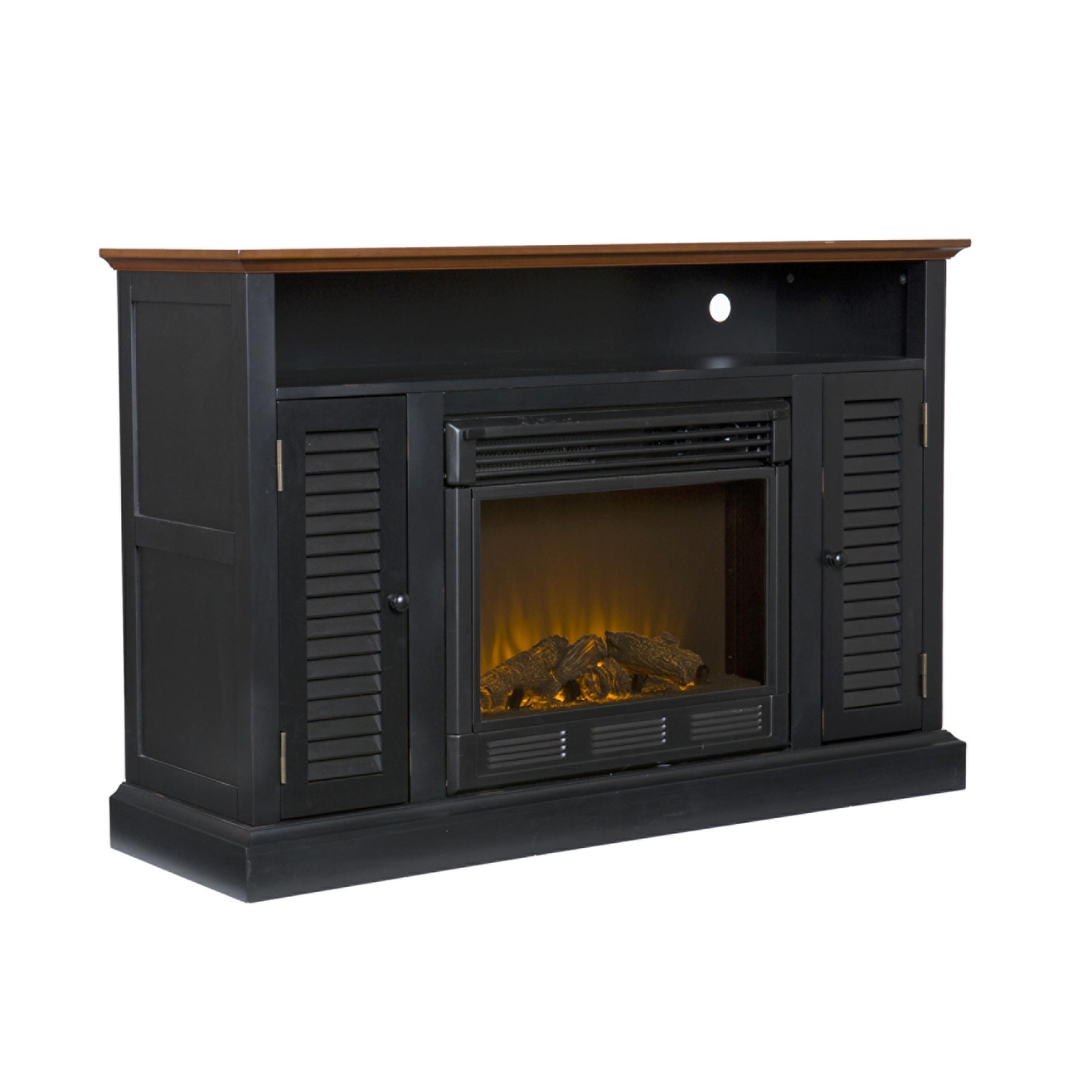 Amazoncom  SEI Antebellum Media Console with Electric Fireplace Antique White  Media