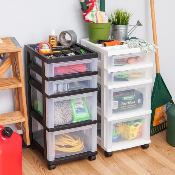 Iris 4-drawer Cart With Organizer Top And
