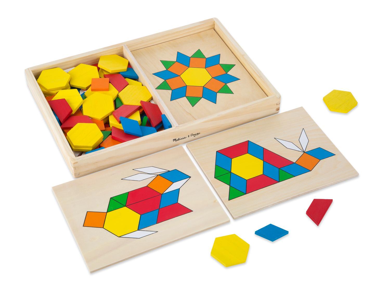 Amazon Melissa Amp Doug Pattern Blocks And Boards