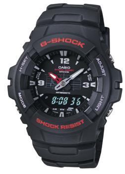 jam tangan Casio Men's G100-1BV G-Shock Classic Ana-Digi