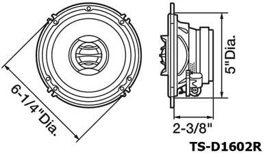 Amazon.com: Pioneer TSD1602R 6.5 Inch Two-Way Speakers