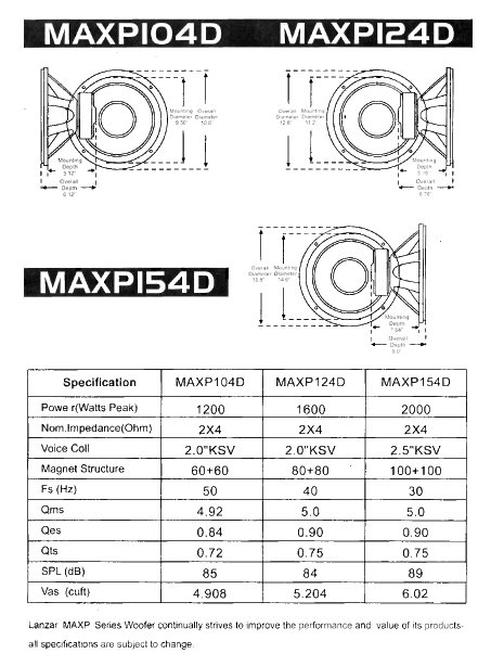dual 1 ohm wiring diagram 1997 ford f350 trailer amazon.com: lanzar maxp154d max pro 15-inch 2000-watt small-enclosure 4-ohm subwoofer: car ...