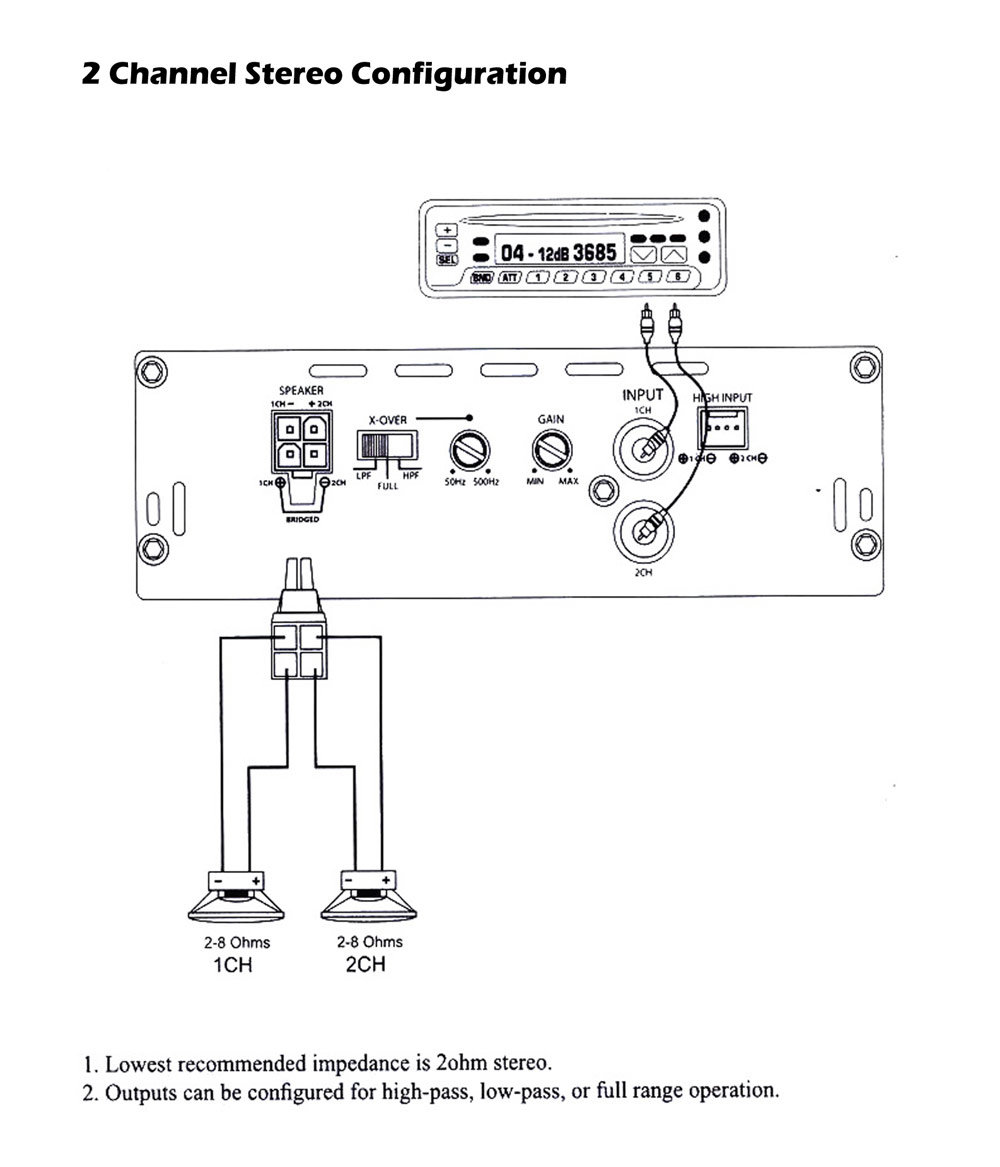 hight resolution of pyle lanzar mnx260 1000 watt 2 channel mini mosfet amplifier pyle stereo wiring diagram