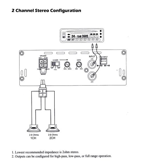 small resolution of pyle lanzar mnx260 1000 watt 2 channel mini mosfet amplifier pyle stereo wiring diagram