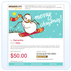 E-mail a gift card for a last minute gift idea