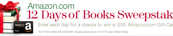 Amazon.com 12 Days of Books Sweepstakes