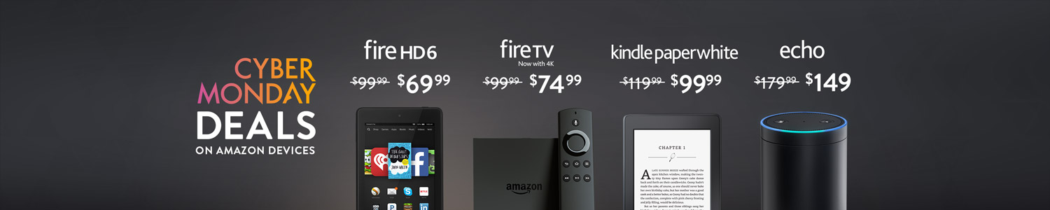 Cyber Monday Deals on Amazon Devices, Starting at $49.99