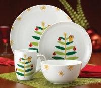 Amazon.com | Rachael Ray Dinnerware Holiday Hoot 16-Piece ...