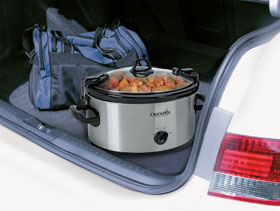The SCCPVL600 travels well in the car without making a mess
