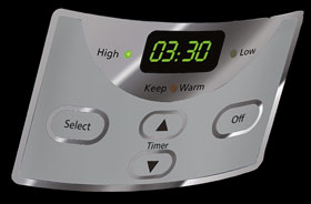 Use programmable settings to set the cooking time