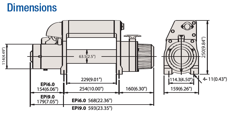 Schematics for the Superwinch 09034 EPi9.0 Series Master Winch