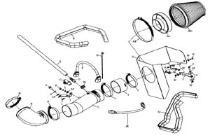 Detailed installation instructions and parts list for the K&N 69-2526TP Typhoon Air Intake Kit