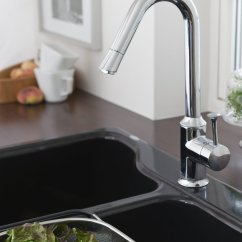 Touch Free Kitchen Faucet Distressed Table American Standard 4332.310.075 Pekoe Single Handle Pull ...