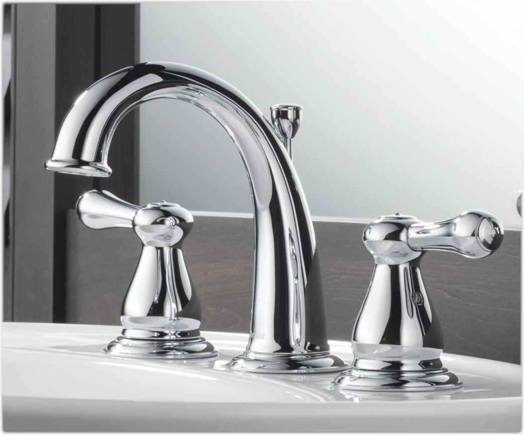 Delta 3575LF Leland Two Handle Widespread Lavatory Faucet