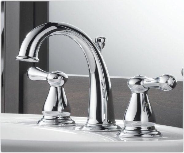 delta bathroom faucets chrome Delta 3575LF Leland Two Handle Widespread Lavatory Faucet