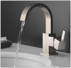 Vero faucet in stainless steel