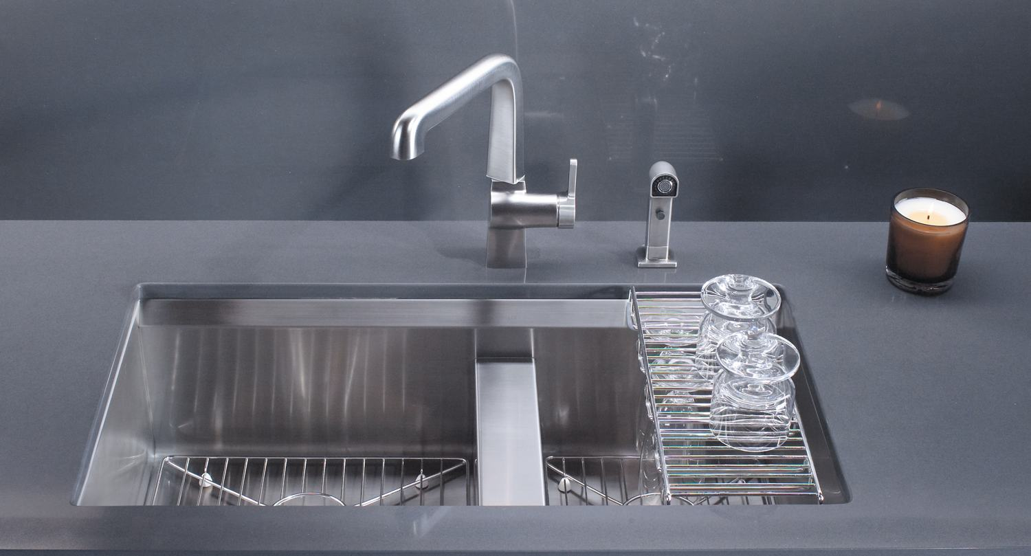 amazon undermount kitchen sink what is the best faucet kohler k 3672 na 8 degree offset double basin