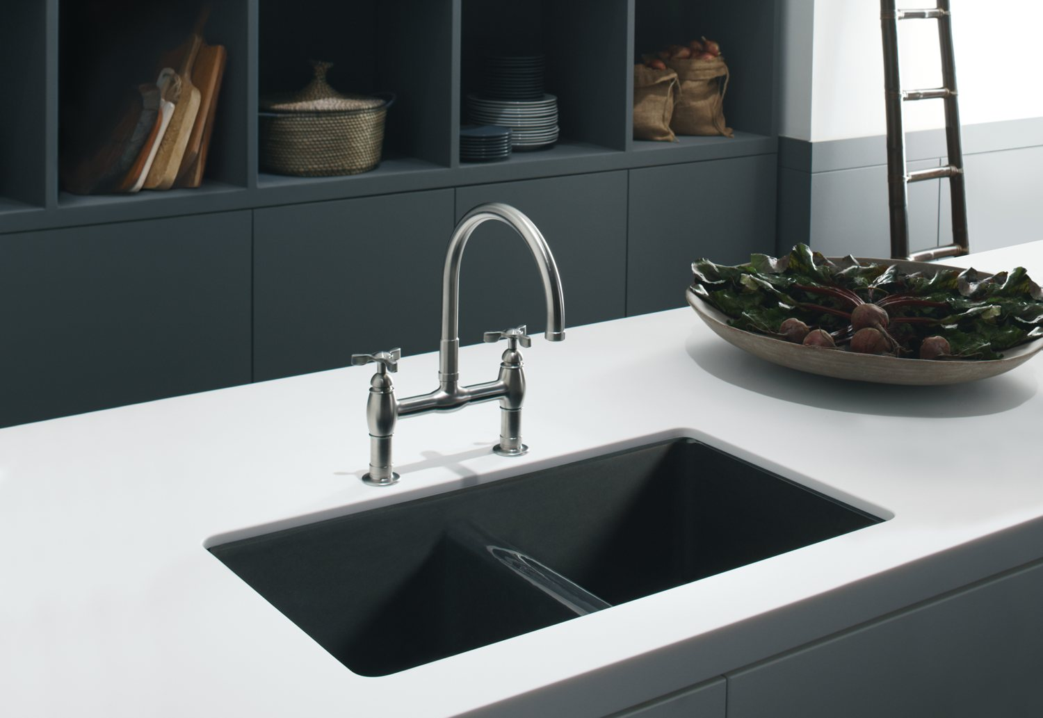 bridge faucets for kitchen roll up cabinet doors kohler contemporary - house furniture