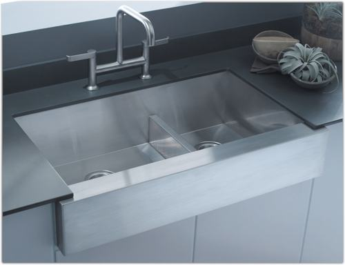 kohler k 3943 na vault undercounter single basin stainless steel sink with shortened apron front for 36 inch cabinet narguade558