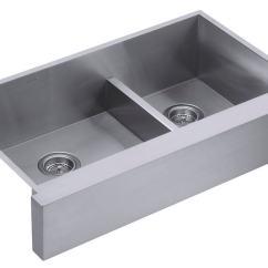 Amazon Kitchen Sinks Undermount Industrial Style Faucet Kohler K-3945-na Vault Undercounter Offset Smart Divide ...