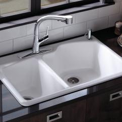 White Kitchen Sink Undermount Best Flooring For A Amazon Kohler K 5870 2 Wheatland Self Rimming