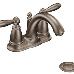 Moen Bronze Kitchen Faucet Maple Cabinets 6610orb Brantford 2 Handle Lavatory With Drain