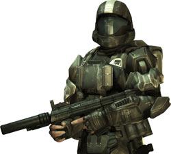 ODST rookie in full gear from 'Halo 3: ODST'