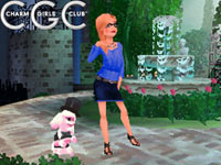 Posing and customized in-game character and pet in Charm Girls Club: My Fashion Show