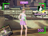 Photoshoot screen from Project Runway the Video Game