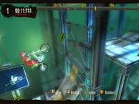 Vertical movement through a game level in Trials HD