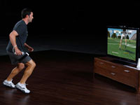 Single player action from EA Sports Active NFL Training Camp