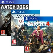 Far Cry 4 + Watch Dogs à 39€90 (compatible avec AC Unity)