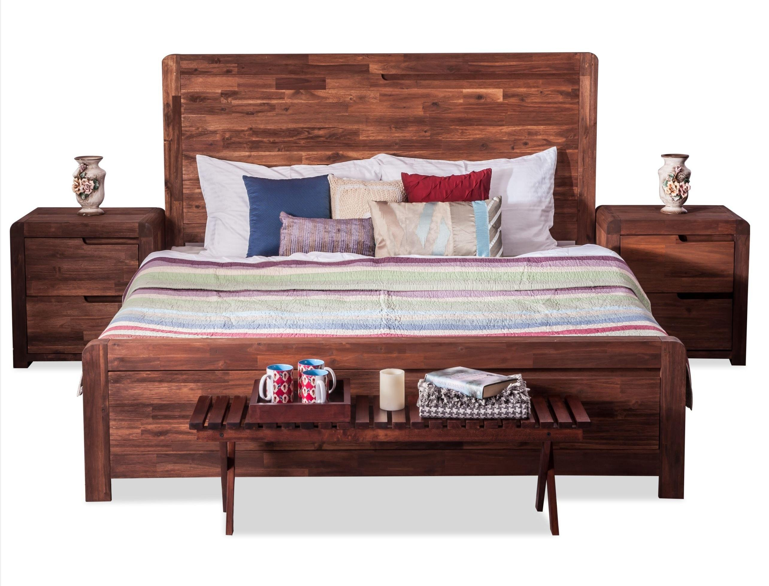 Durian Roman King Size Bed Walnut Amazon Home Amp Kitchen