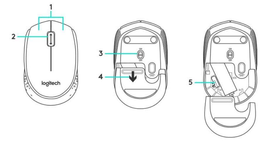 Amazon.in: Buy Logitech B170 Wireless Mouse (Black) Online