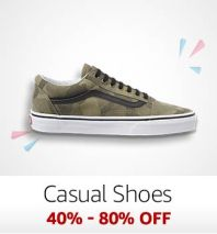 Casual Shoes: 40%-80% off