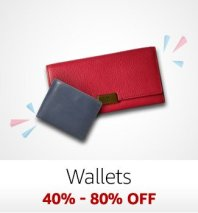 Wallets: 40%-80% off