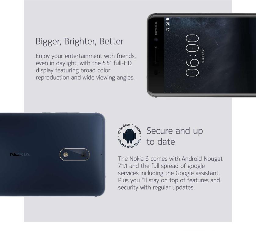 Dolby Atmos Speakers - Nokia 6