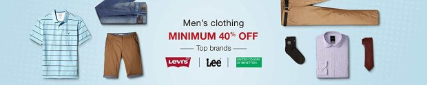 Men's clothing Minimum 40% off on Top brands