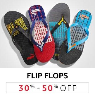 Flip Flops: 30% to 50% off