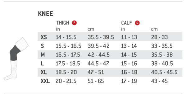 size_chart Elite-Knee
