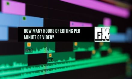 How many hours of editing per minute of video