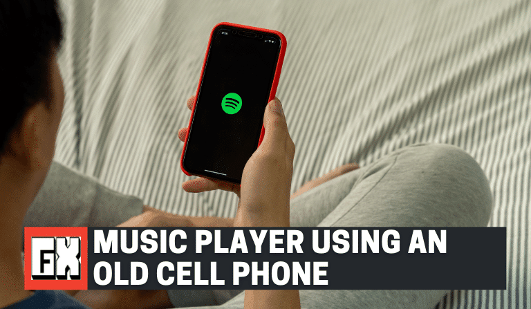 Music Player Using An Old Cell Phone