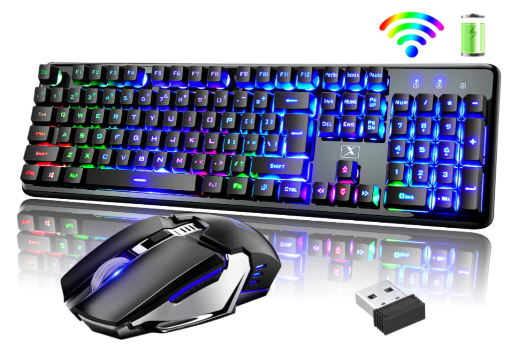 FELICON Wireless Keyboard And Mouse Gaming Combo