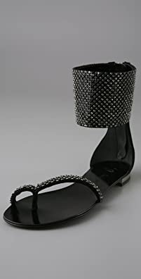 Giuseppe Zanotti for Balmain Swarovski Thong Sandals : Original Price: $1,975.00