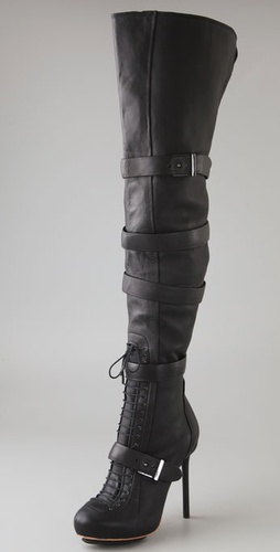 L.A.M.B. Glamette Thigh High  Boots